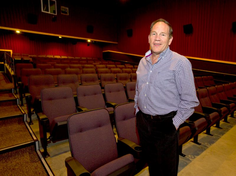 COURTESY PHOTO: BEND BULLETIN - Drew Kaza stands in one of the auditoriums at the Sisters Movie House. The theater has remained closed since March due to COVID-19.