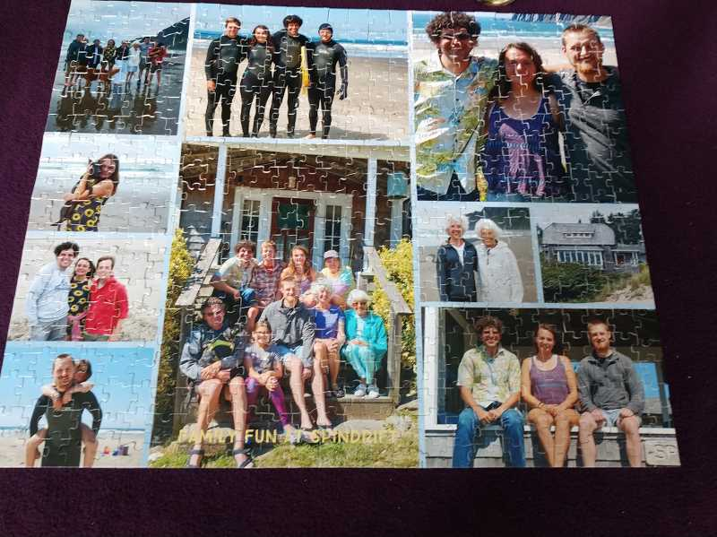 COURTESY PHOTO - Jo Ann Parsons completed this puzzle of family photos earlier this year.