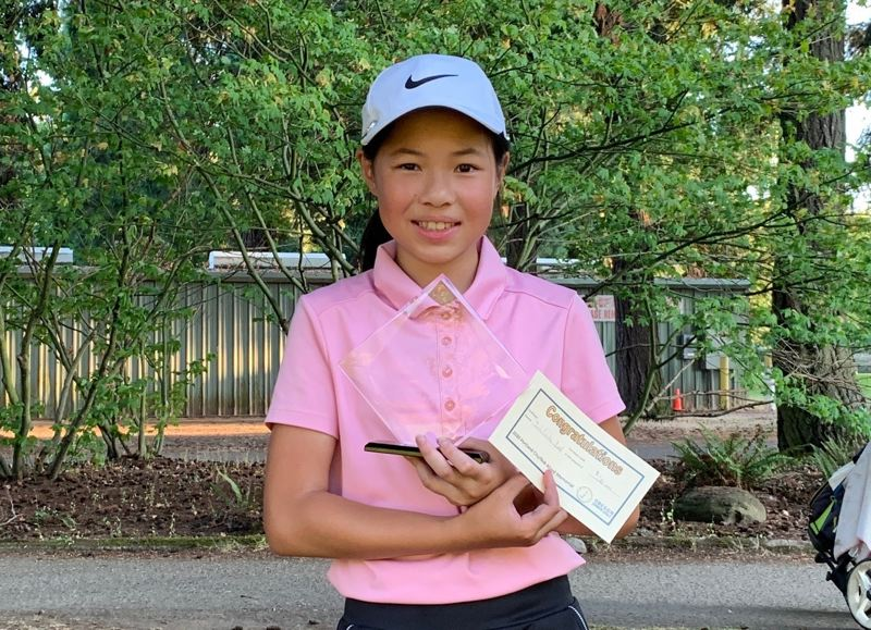 COURTESY PHOTO: LY FAMILY - Kate Ly, a Portland seventh grader, will compete this week in the Drive, Chip & Putt Championship national finals prior to the Masters at Augusts, Georgia.