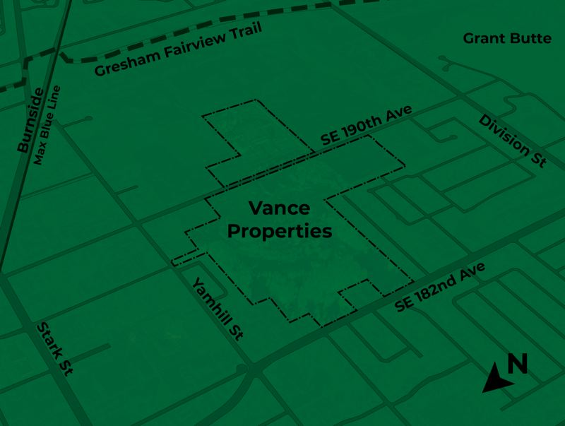 COURTESY PHOTO: MULTNOMAH COUNTY - The county is looking to develop portions of Vance Properties, in the Rockwood and Centennial neighborhoods.