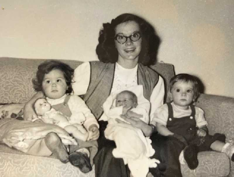 COURTESY PHOTO: JEANNE MULLEN - Betty Dargis sits with her daughters Liz and Jenny and neice Jeanne.