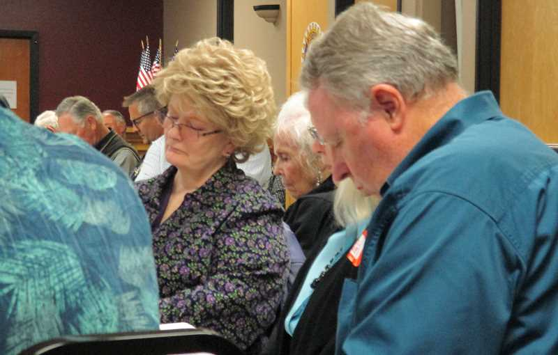 FILE PHOTO: DEBORAH GUINTHER - The annual Mayor's Prayer Breakfast in Canby is slated to return May 6 at Cutsforth's Townhall.