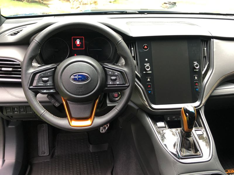 PMG PHOTO: JEFF ZURSCHMEIDE - The 'Wilderness' edition of the 2021 Subaru Outback includes special interior trim and a large dispaly screen.