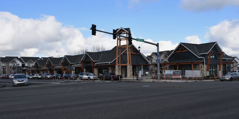 PMG PHOTO: TERESA CARSON - The Byways mixed-use development at the corner of 238th and Halsey in Wood Village is one of the first Main Streets on Halsey sites to go up.