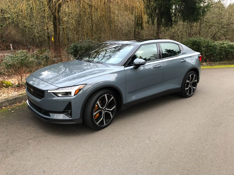 PMG PHOTO: JEFF ZURSCHMEIDE - The Polestar 2 is a compact battery-electric coupe based on the same chassis platform as Volvo's XC40 Recharge.