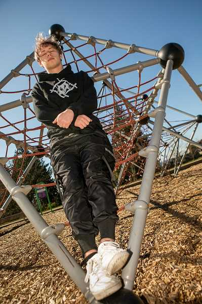 PMG PHOTO: JAIME VALDEZ - Malachi Tishendorf said since he doesnt plan on attending college, his sole focus at the moment is to pursue his dream of becoming a successful rap and hip-hop musician.
