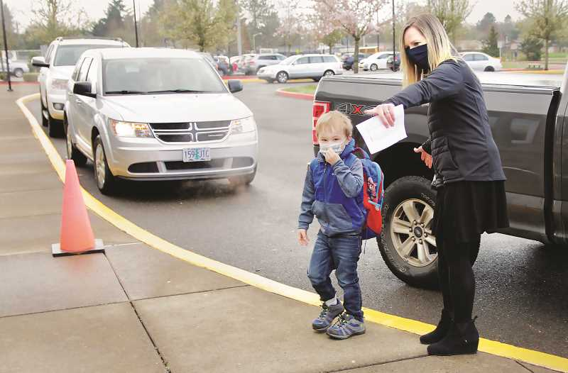 COURTESY PHOTO: NEWBERG SCHOOL DISTRICT - Kindergartners through fifth grade students all have the option to return to the classroom part-time in Newberg and Dundee, a sign of relative normalcy after almost a year of distance learning for many.
