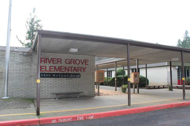 PMG FILE PHOTO - River Grove Elementary was one of the schools facing capacity issues when the district discussed boundary changes last year, but enrollment is down this year.