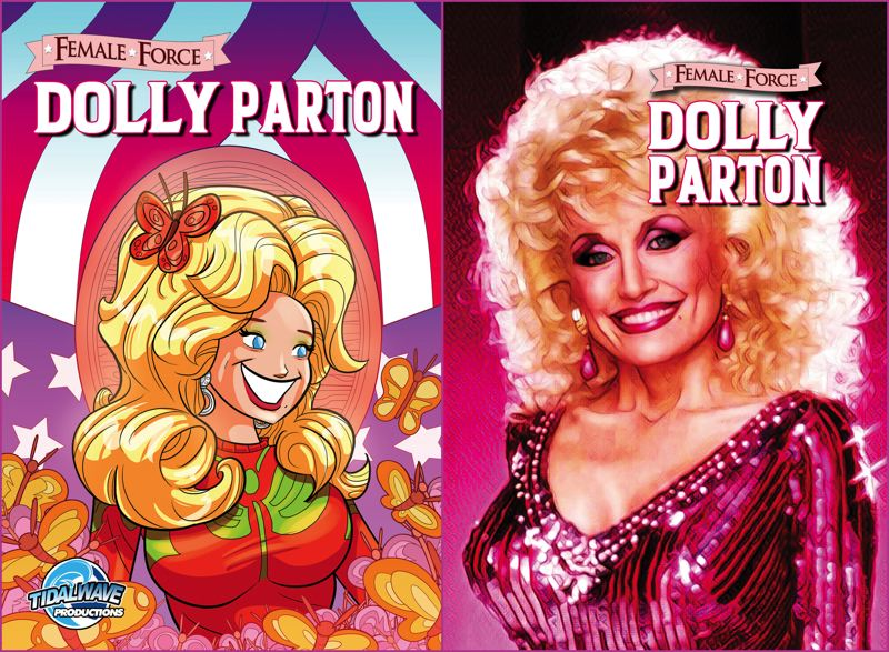 COURTESY IMAGE: TIDALWAVE COMICS - The new biography by Portland's TidalWave Comics is about famed country singer Dolly Parton.