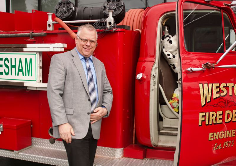 PMG PHOTO: CHRISTOPHER KEIZUR - Brad Roe has driven the firetruck to 252 birthdays and graduation events since last March.