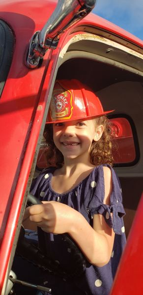 COURTESY PHOTO: BRAD ROE - Lots of parents have connected with the Weston firetruck to bring something special to their childs birthday.