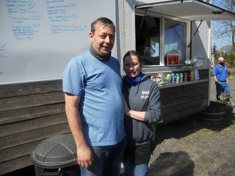 PMG PHOTO: SCOTT KEITH - David and Heidi Curtis operate Hangry, a food cart located just outside Scappoose.
