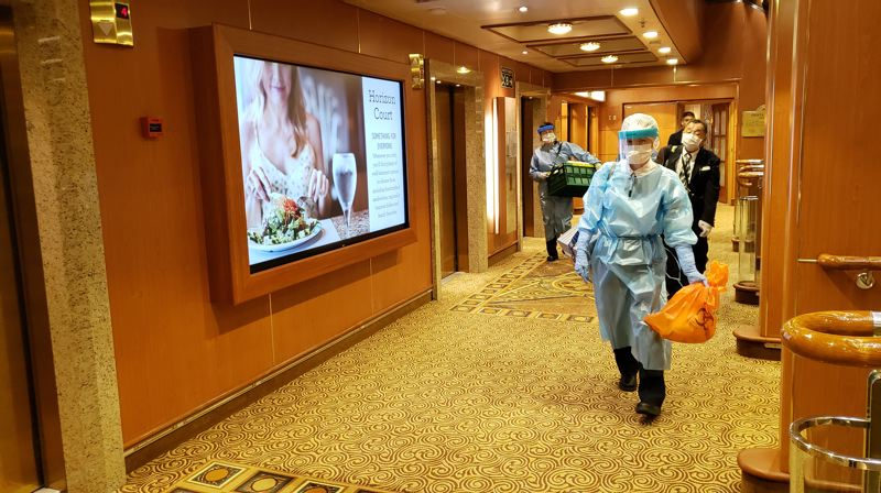 COURTESY PHOTO: HBO - Healthcare workers board the Diamond Princess as COVID-19 spreads aboard the ship.