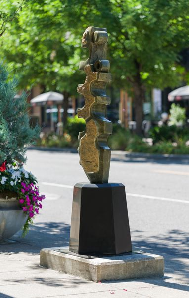 COURTESY PHOTO - Vertebra: Ocean Verde by artist Dave Haslett is located on A Avenue and 1st Street.