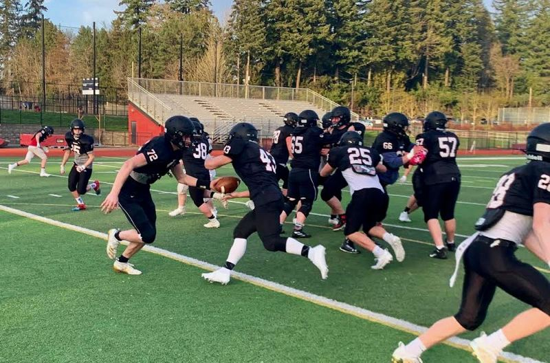 COURTESY PHOTO: SANDY FOOTBALL - Sandy High School football is done for the spring season after a positive COVID-19 test.