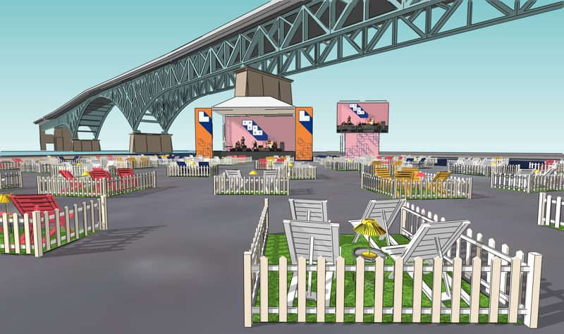 COURTESY FULLER EVENTS - Artist rendering of The Lot at Zidell Yards.