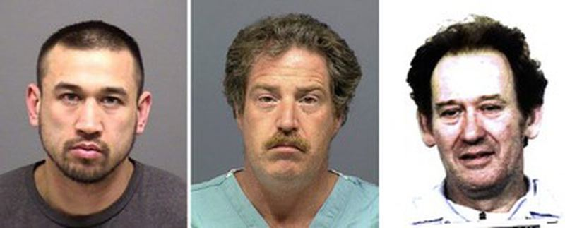 COURTESY PHOTOS - Mug shots from left: Francis Weaver, tWard Weaver III and Francis Ward.