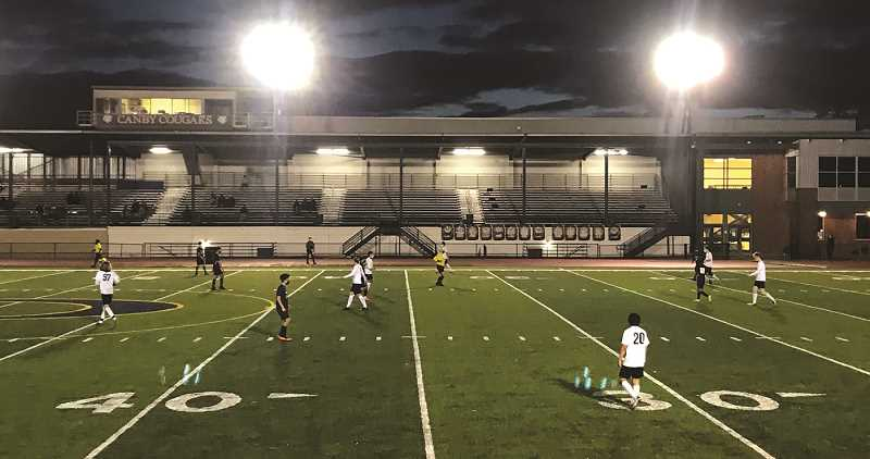 COURTESY PHOTO: RYAN MCCORMACK - The Canby boys soccer team got its first win of the season Monday, defeating Madison by a 4-3 count.