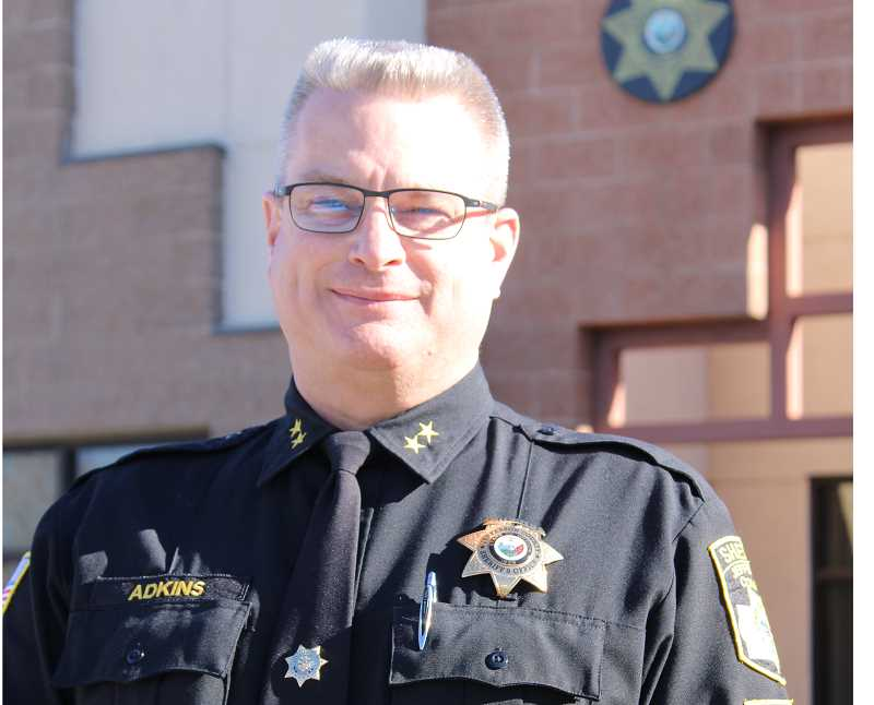 PAT KRUIS/MADRAS PIONEER  - Jefferson County Sheriff Jim Adkins recently announced his plans to retire at the end of June.