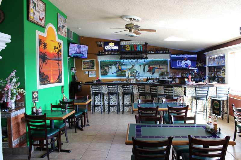 JENNIFFER GRANT/MADRAS PIONEER  - Mazatlan Mexican Restaurant owners recently opened a new bar, Cantina Toro, in the former banquet area.