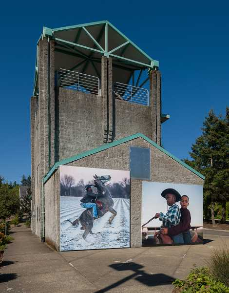 COURTESY PHOTO - Delta Hill Riders by artist Rory Doyle is located at the Westlake Fire Station on Melrose Street.