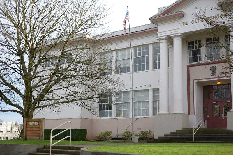 PMG PHOTO: ANNA DEL SAVIO - The Olde School building in St. Helens will soon belong to the county. The building previously housed the John Gumm School.