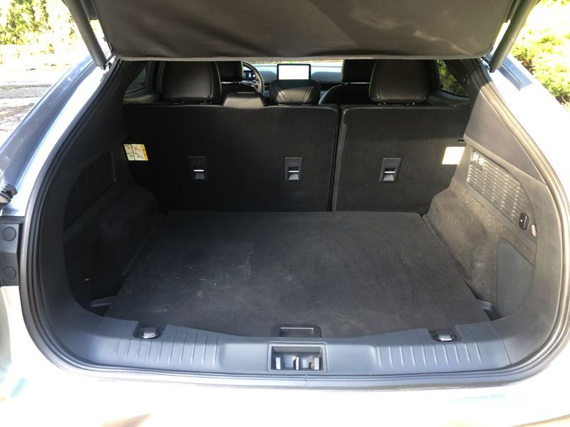 PMG PHOTO: JEFF ZURSCHMEIDE - There is a tremendous amount of cargo space available in the 2021 Mustang Mach-E.