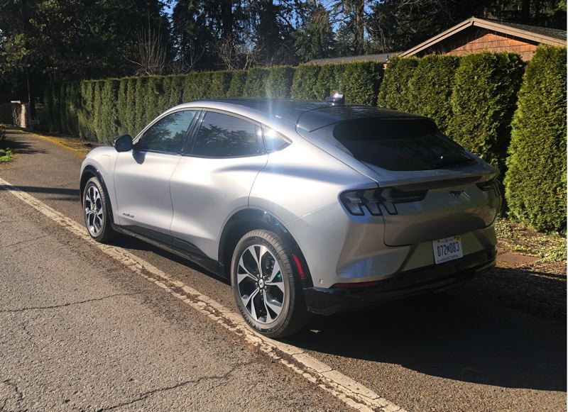 PMG PHOTO: JEFF ZURSCHMEIDE - The fastback styling suggests the sportiness of the 2021 Mustang Mach-E.