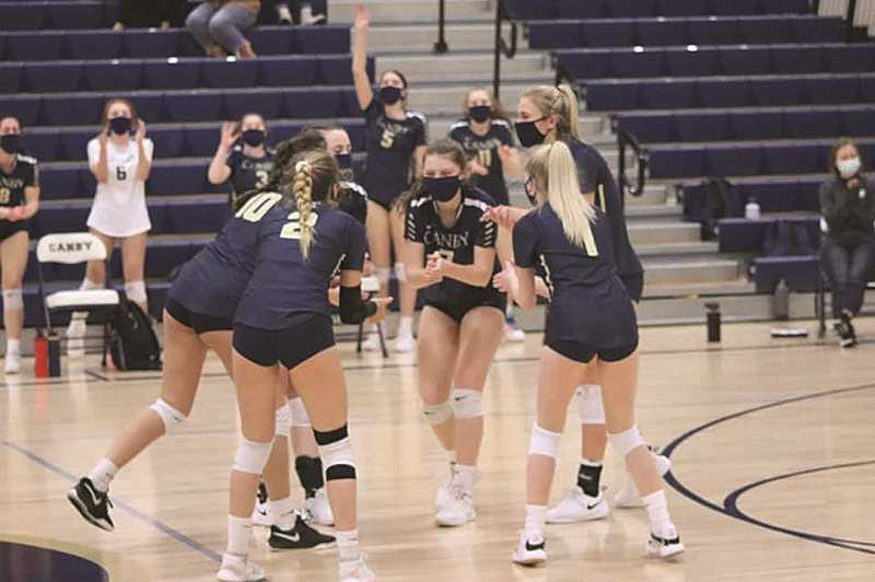 COURTESY PHOTO: CANBY VOLLEYBALL - Canby Volleyball's season came to a close on Monday with a three-set loss to state powerhouse Jesuit.