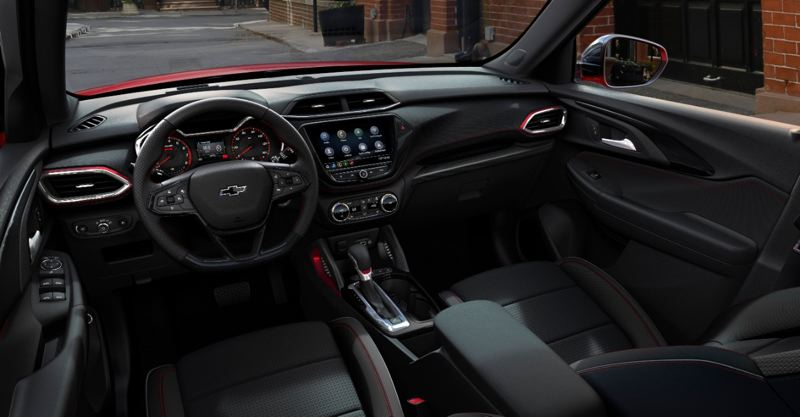 COURTESY CHEVY - The interior of the 2021 Chevy Trailblazer is surprisingly spacious and can be ordered with practically all advanced technologies.