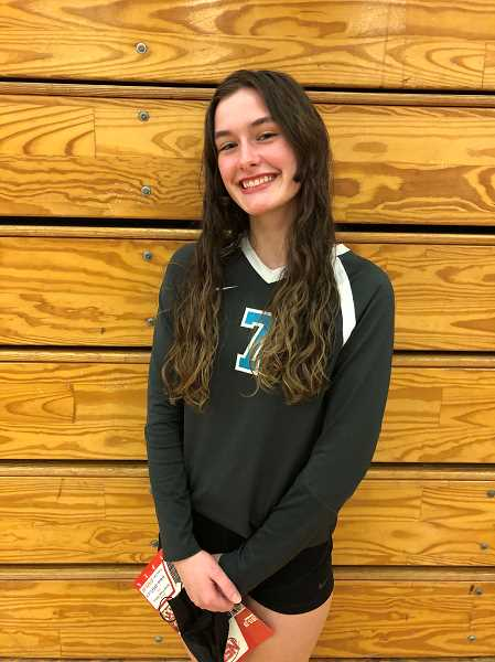 COURTESY PHOTO - Century junior middle blocker Kimy Anderson was a key contributor for the Jaguars during the 2021 volleyball season.