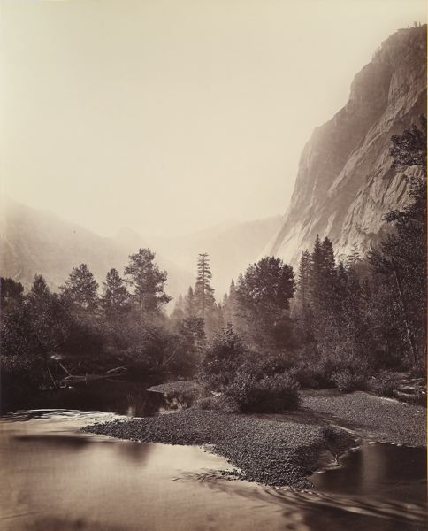 PHOTO: CARLETON WATKINS - Glacier Point Yosemite is the type of nature photography that Adams grew up with in the 1800s, by Carleton Watkins.