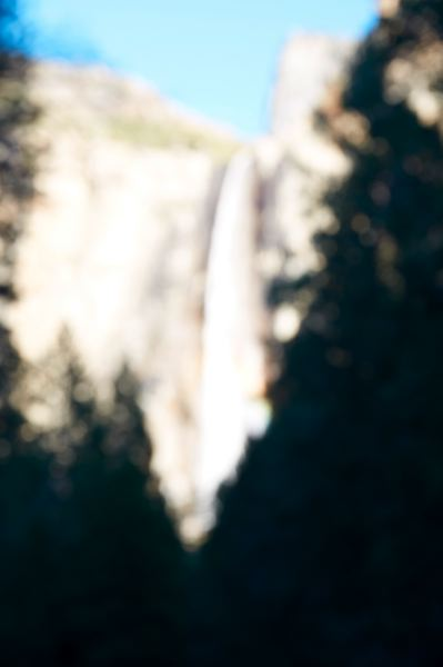 PHOTO: CATHERINE OPIE - Catherine Opie takes a blurry photo of a waterfall found on many Yosemite postcards.