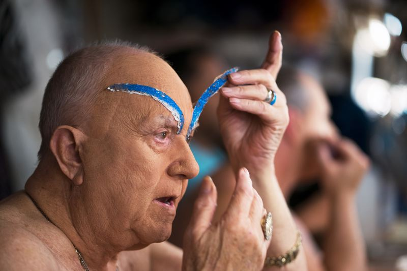 PMG FILE PHOTO - Darcelle/Walter Cole, prepared distinctive eyebrows for his drag costume. A project to preserve the story of Cole's life earned a state heritage award.