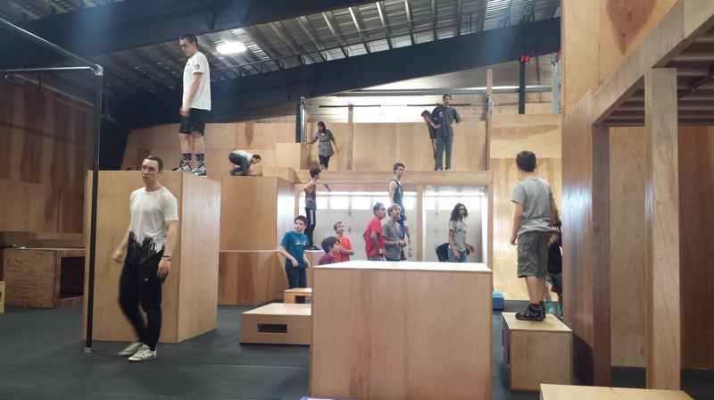 PAMPLIN MEDIA GROUP: JOSEPH GALLIVAN - Parkour gym Forge Parkour in action when it opened in 2017. Parkour is an indoor sport but in a wet climate a gym is useful.