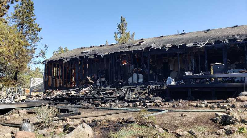 CROOKED RIVER RANCH FIRE AND RESCUE PHOTO - A home on Southwest Buckhorn Place in Crooked River Ranch was a total loss Friday, April 9 after a weed burn spread to the residence.