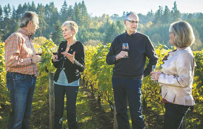 PMG FILE PHOTO - Every year around this time, Oregonians and visitors from out of state emerge from their cocoons and head out for wine-centered afternoons in Newberg, Dundee and everywhere else grapes grow.