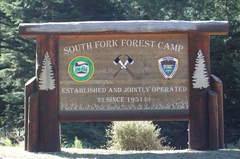PMG PHOTO: WADE EVANSON - The sign outside the South Fork Prison Camp in the Tillamook State Forest.