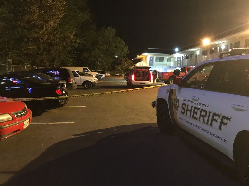 COURTESY PHOTO: MULTNOMAH COUNTY SHERIFFS OFFICE - A man was taken to the hospital with gunshot wounds after a shooting Thursday, April 15, at the Troutdale Motel 6.