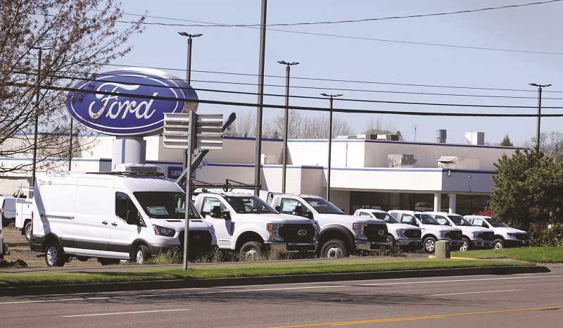 PMG PHOTO: GARY ALLEN - Newberg Ford has been fined more than $107,000 by the Oregon Attorney General's office for a fraulent marketing scheme discovered recently.