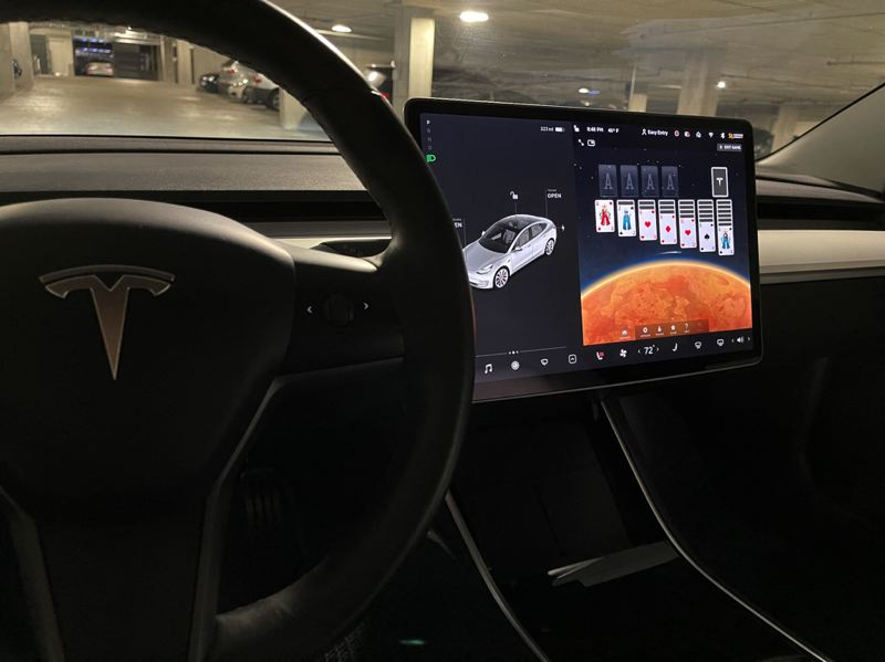 COURTESY: BRAINIUM STUDIOS - Portland mobile game making company Brainium has the second most played game on Tesla's in car system, Solitaire. Three Brainium execs have Teslas and the company hopes to expand from 20 to 60 staff in a year.