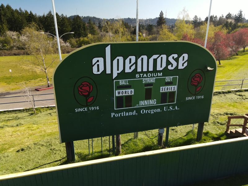 PMG PHOTO: ALVARO FONTAN - Little League organizers have hopes to salvage an almost brand new scoreboard from the Alpenrose east diamond to nearby Gabriel Park.