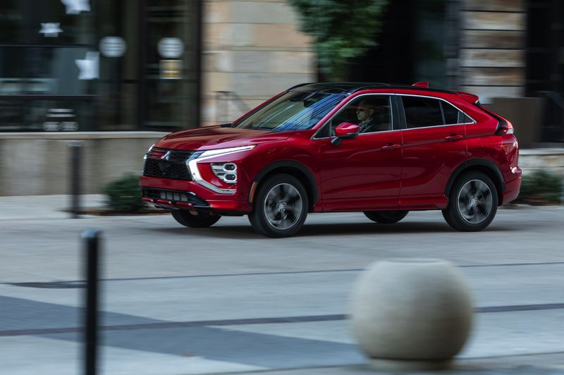 COURTESY PHOTO: MITSUBISHI - The 2022 Mitsubishi Eclipse Cross comes with a peppy but economical turbocharged 1.5-liter engine and can be ordered with Super All-Wheel-Control all-wheel-drive.