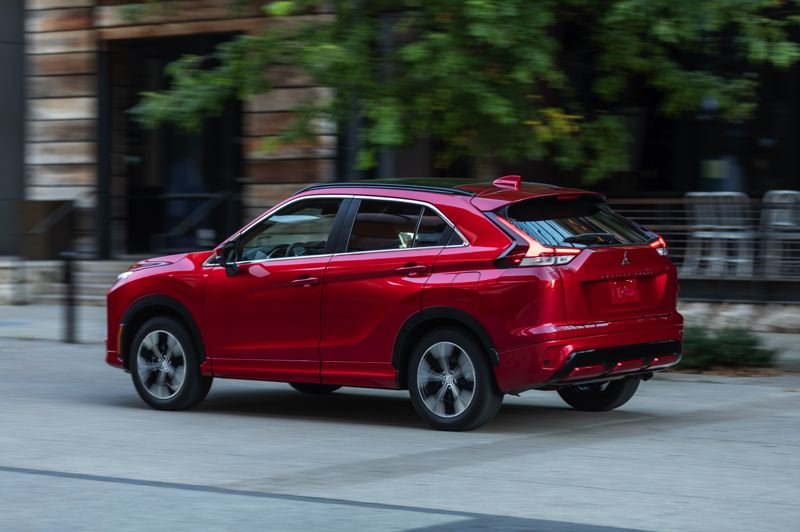 COURTESY PHOTO: MITSUBISHI - The 2022 Mitsubishi Eclipse Cross has fastback styling and can be ordered in multiple affordable trim levels.