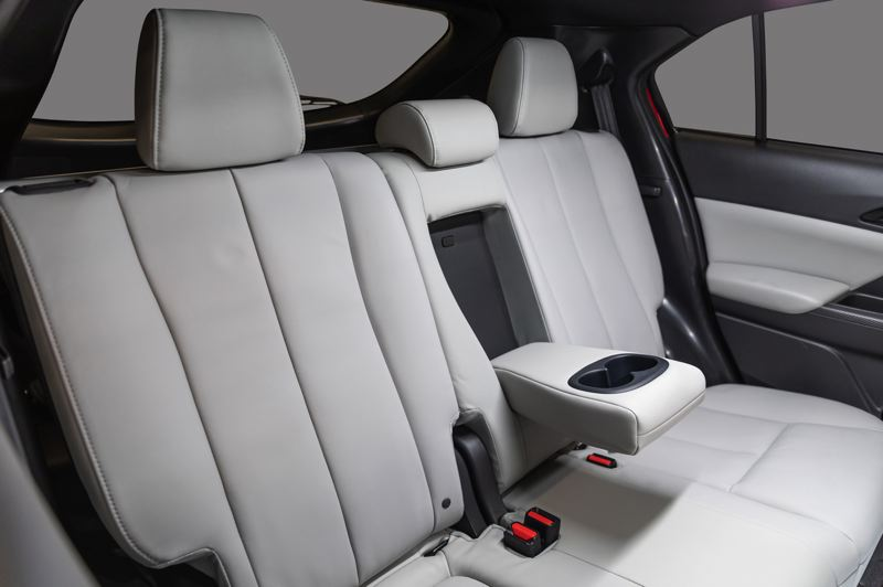 COURTESY PHOTO: MITSUBISHI - The rear seats in the 2022 Mitsubishi Eclipse Cross can seat three or provide cup holders for two passengers.