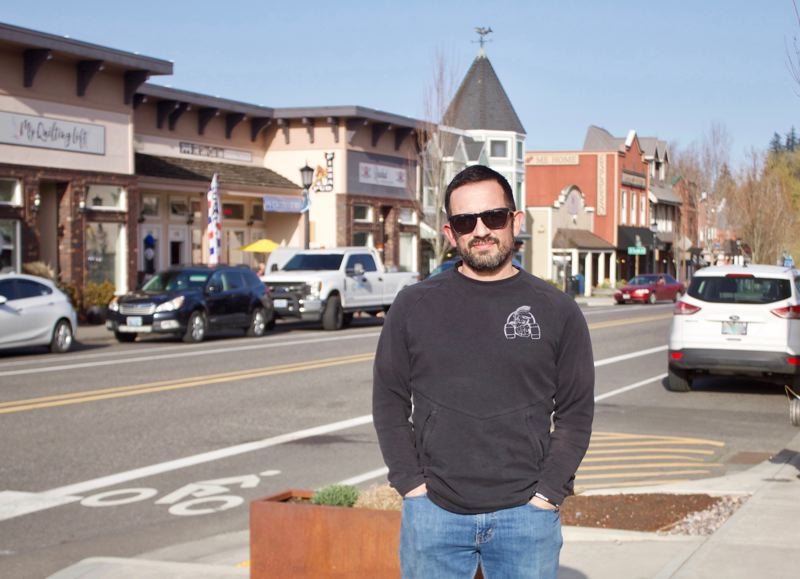 PMG PHOTO: CHRISTOPHER KEIZUR - Mayor Randy Lauer has a bright vision for downtown Troutdale.