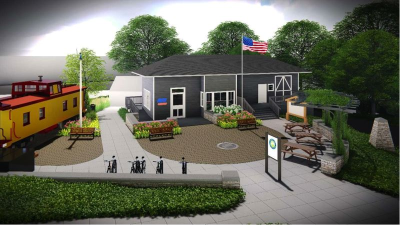 COURTESY PHOTO: CITY OF TROUTDALE - Troutdale has plans for a visitor center and bike plaza at the Troutdale Depot.