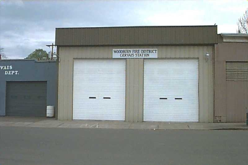 COURTESY PHOTO: WOODBURN FIRE DISTRICT - This is the former Gervais Fire Station on 4th Avenue, near City Hall. Gervais joined the Woodburn Fire District in 1986. The fire district operated Station 23 in Gervais until 2007 when it was closed due to the lack of available volunteers and the need for considerable structural repairs.