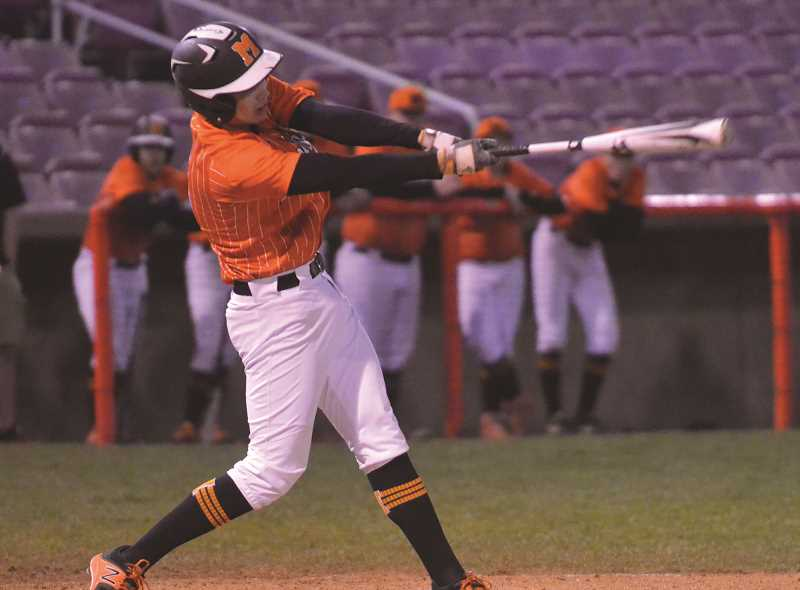FILE PHOTO - The Molalla High baseball team got its season off to a rocky start early, but then showed its potential later in the week.