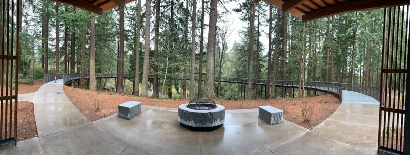 COURTESY PHOTO: PORTLAND PARKS & RECREATION - Another addition at Leach Botanical Garden is an outdoor terrace with a firepit.